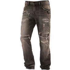LTB FABIJAN Slim Fit Jeans Herren black destroyed denim