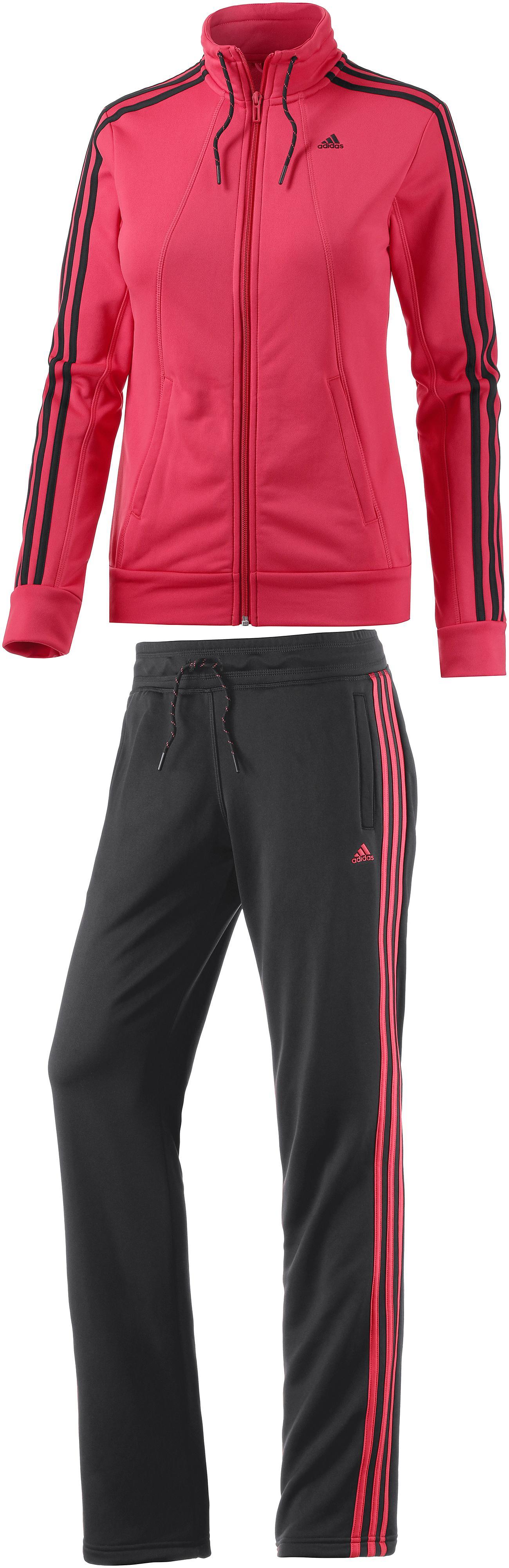 a few days away first rate new list adidas Trainingsanzug Damen koralle/schwarz im Online Shop von SportScheck  kaufen