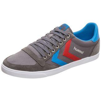 hummel Slimmer Stadil Low Sneaker Herren grau / blau / rot