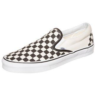 Vans Classic Slip-On Checkerboard Sneaker weiß / schwarz