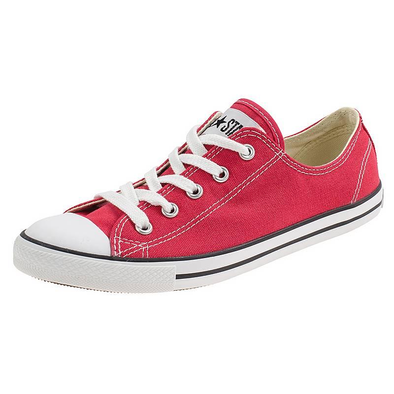 cheap for discount d0c4a 001ac ... discount converse chuck taylor all star dainty ox sneaker damen rot weiß  8aff4 d58f8