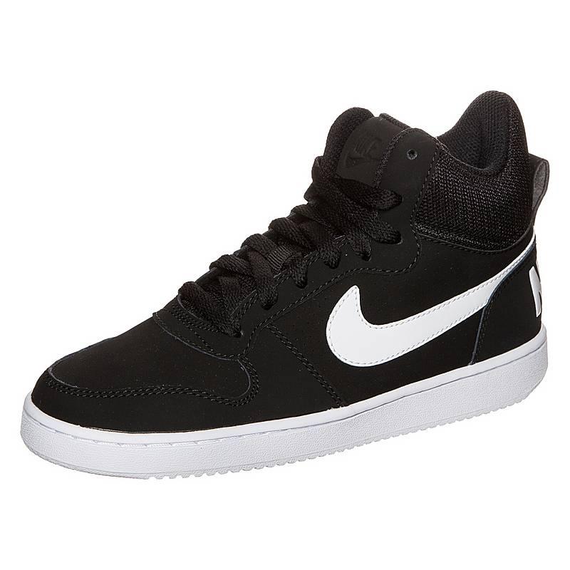 half off 884d1 17d9e Nike Court Borough Mid Sneaker Damen schwarz  weiß