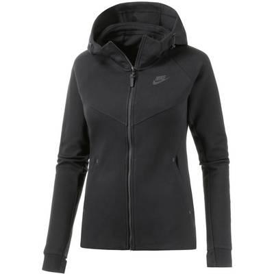 Nike Tech Fleece Kapuzenjacke Damen schwarz
