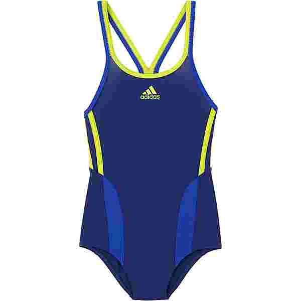 adidas Badeanzug Kinder dunkelblau-gelb