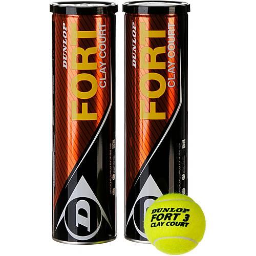 Dunlop Fort Clay Court 2* 4 Bälle Tennisball gelb