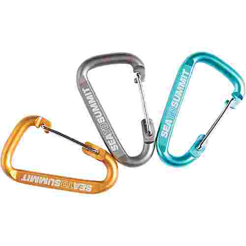 Sea to Summit Karabiner 3 Pack Karabiner grey-orange-blue