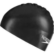 SPEEDO Moulded Silicone Junior Badekappe Kinder schwarz