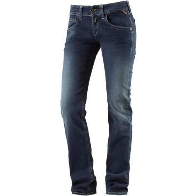 replay new swenfani straight fit jeans damen blue denim im. Black Bedroom Furniture Sets. Home Design Ideas
