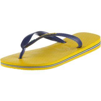 Havaianas Brasil Logo Zehentrenner Herren Gelb/Blau