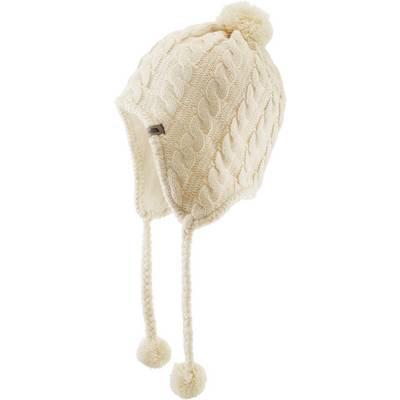 The North Face Fuzzy Earflap Bommelmütze Damen weiß