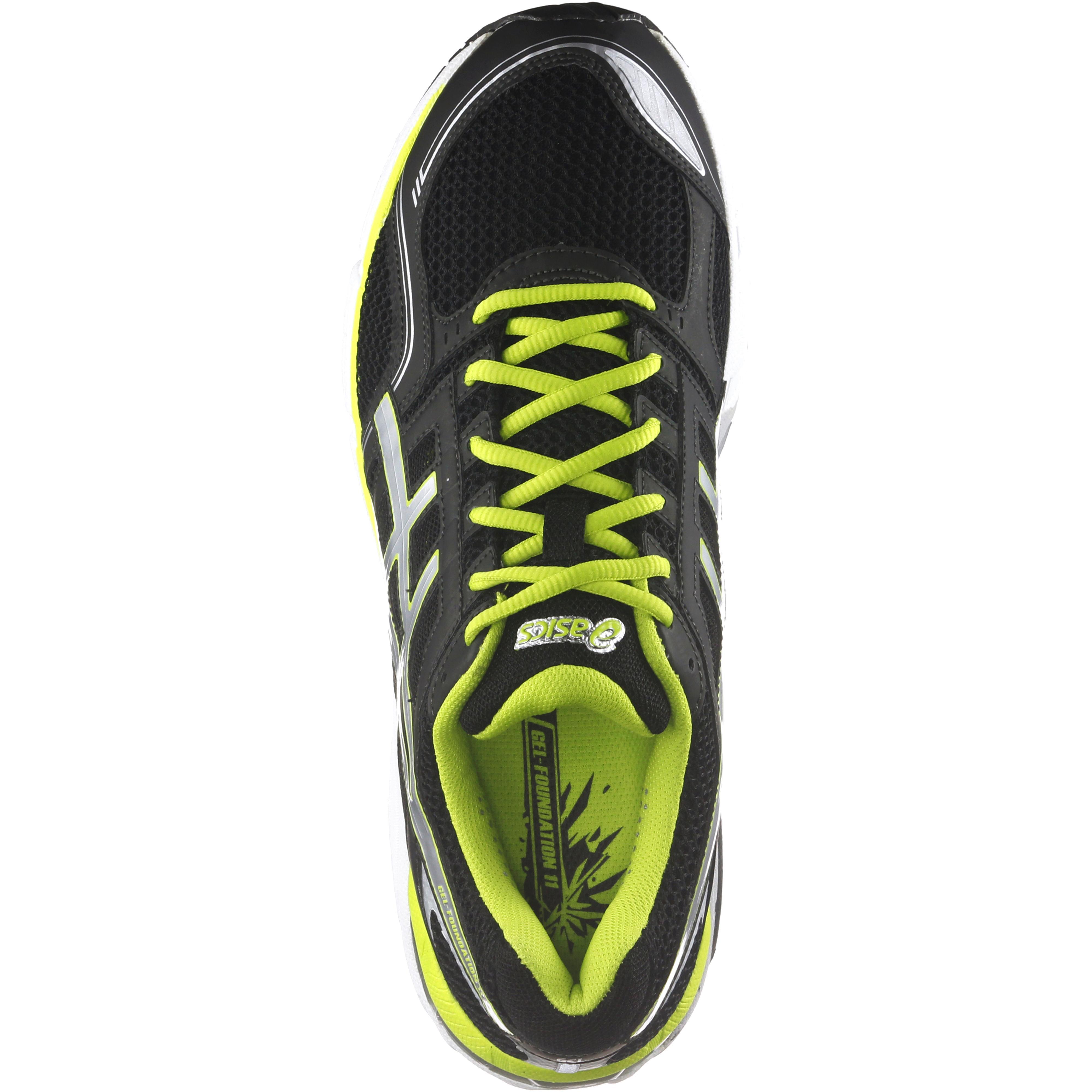 ASICS Gel Foundation 11 Laufschuhe Herren schwarzsilberfarben im Online Shop von SportScheck kaufen
