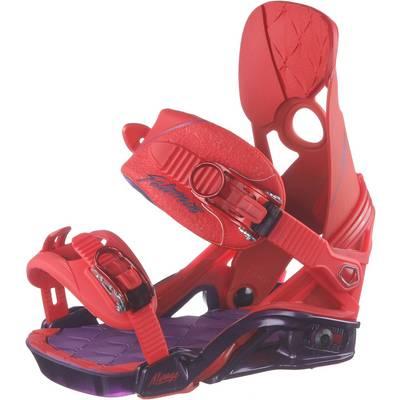 Salomon Mirage Snowboardbindung Damen lila/rot