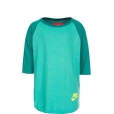 Nike Three-Quarter Langarmshirt Kinder türkis / grün