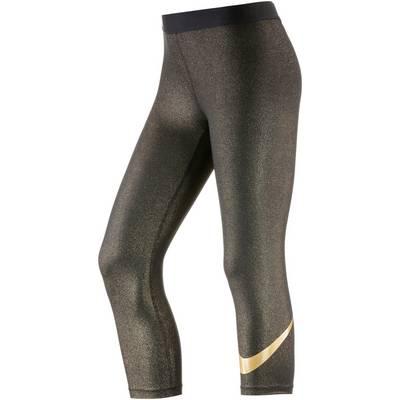 Nike PRO DRY FIT Tights Damen schwarz/gold