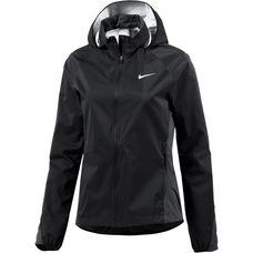 Nike Shield Hooded Zoned Laufjacke Damen schwarz