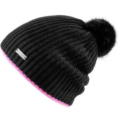 Eisglut ANTONIA Bommelmütze schwarz / pink