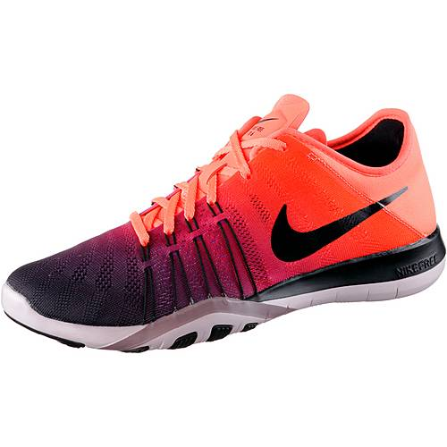 nike free tr 6 fitnessschuhe damen orange dunkellila im. Black Bedroom Furniture Sets. Home Design Ideas