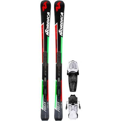 Nordica Dobermann Felix All-Mountain Ski Kinder schwarz/grün