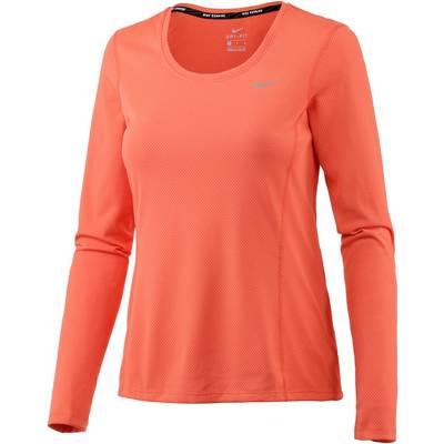 Nike Dri-Fit Contour Laufshirt Damen orange
