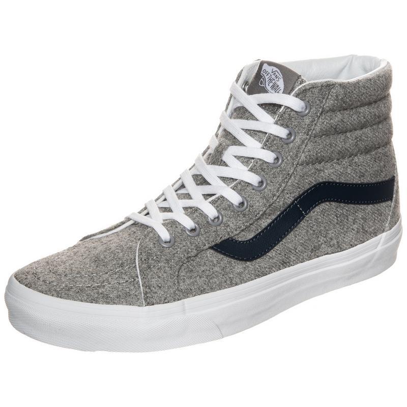 Sk8-Hi Reissue Varsity Sneaker, grau, grau / dunkelblau Vans