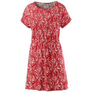 Forvert Lotus Kurzarmkleid Damen rot/weiß