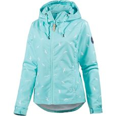 WLD Winnywood II Kapuzenjacke Damen mint/weiß