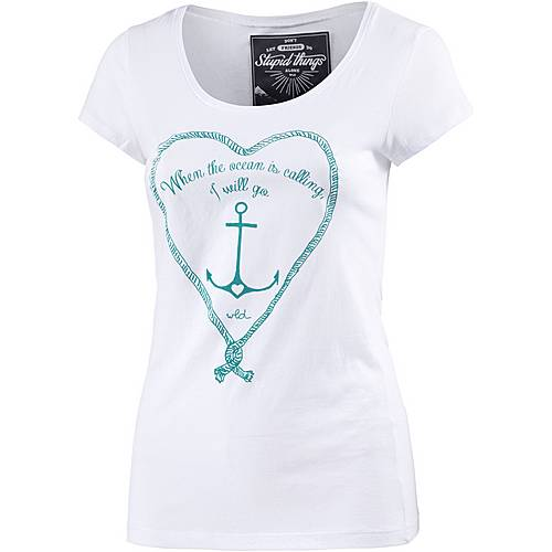 WLD Wild at Heart Printshirt Damen weiß