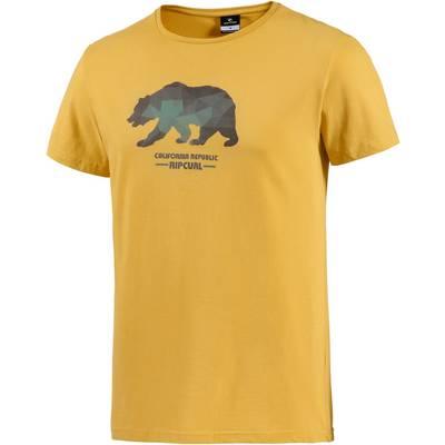Rip Curl Strange Printshirt Herren gelb