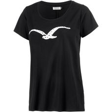 Cleptomanicx Möwe Love Printshirt Damen schwarz