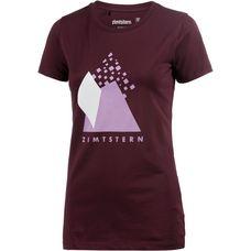 Zimtstern Levelz Printshirt Damen bordeaux