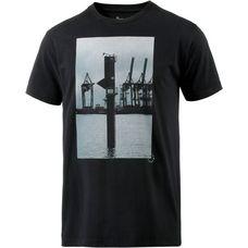 Cleptomanicx Home Printshirt Herren schwarz