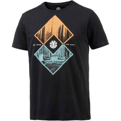 Element Intersect Printshirt Herren schwarz