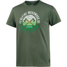 Alprausch Holzwerk Printshirt Herren grün