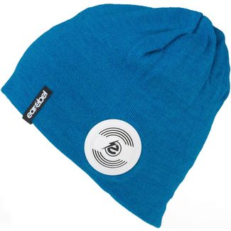 earebel Bluetooth Kopfhörer Escape Decora Merino Beanie blau