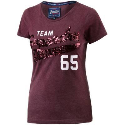 Superdry T-Shirt Damen bordeaux