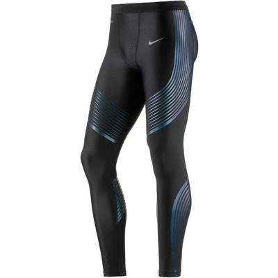Nike Power Speed Lauftights Herren schwarz/blau