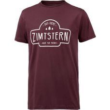 Zimtstern Ruztic Printshirt Herren bordeaux