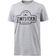 Zimtstern Ruztic Printshirt Herren grau