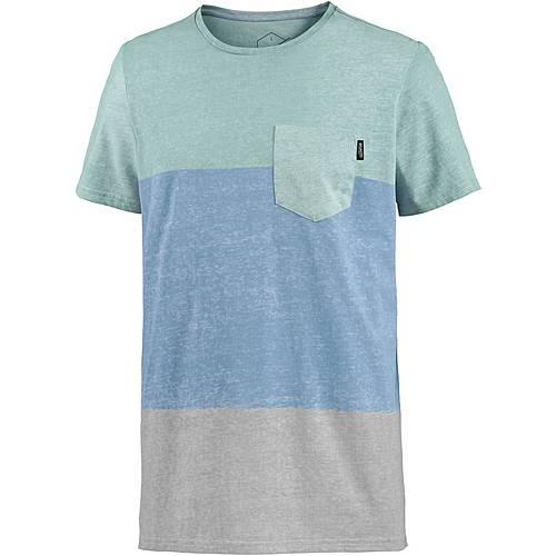 Brunotti Striping T-Shirt Herren blau/mint/grau