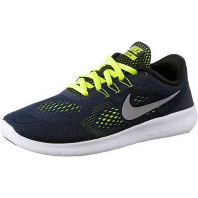Nike Free Laufschuhe Kinder navy/neongrün