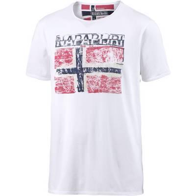 Napapijri Surl Printshirt Herren weiß
