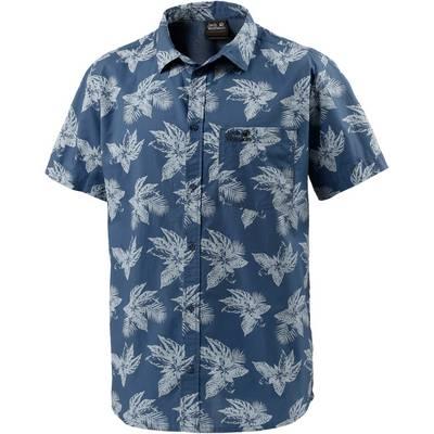 Jack Wolfskin Hot Chili Tropical Kurzarmhemd Herren blau/allover
