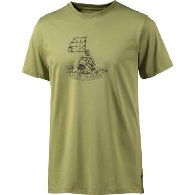 FJÄLLRÄVEN Keep Trekking Printshirt Herren hellgrün