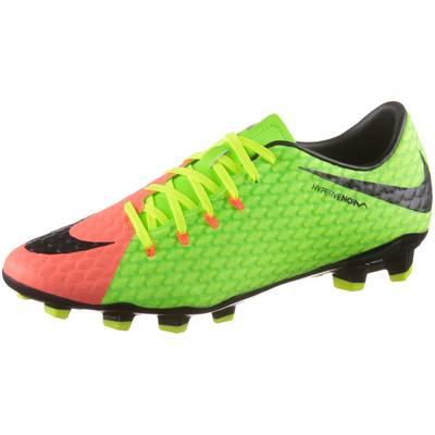 Nike HYPERVENOM PHELON III FG Fußballschuhe Herren neongrün/orange