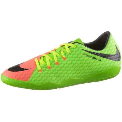 Nike HYPERVENOMX PHELON III IC Fußballschuhe Herren neongrün/orange