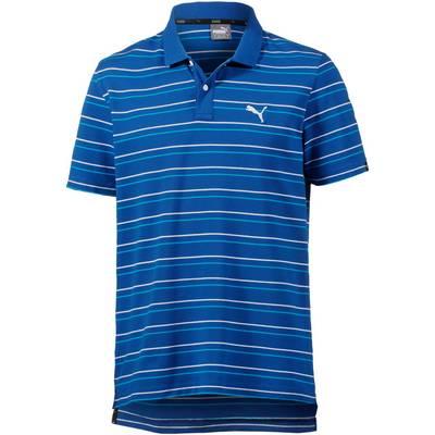 PUMA Sports Stripe Poloshirt Herren blau
