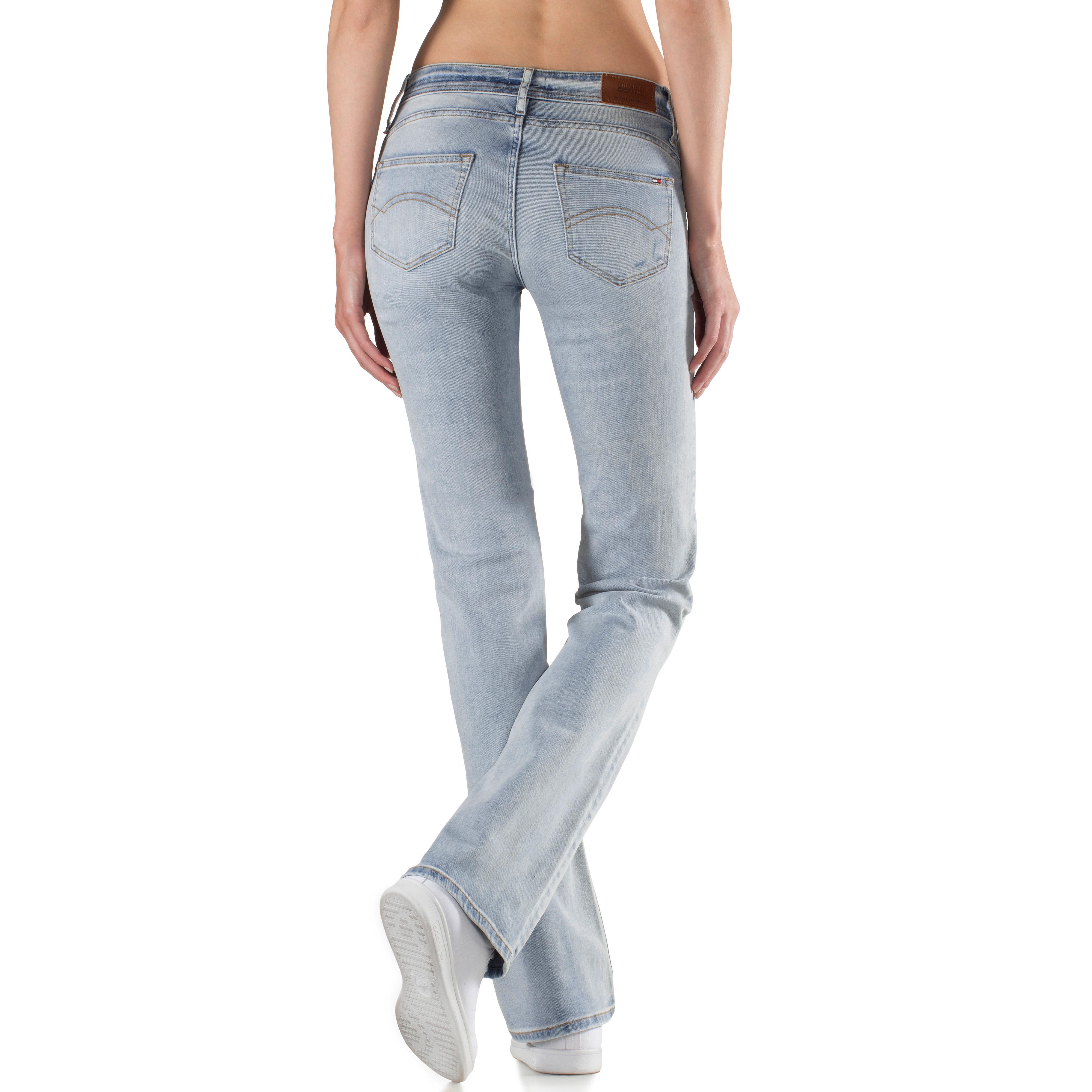 e4f25395acd Tommy Hilfiger Sandy Bootcut Jeans Damen bleached denim im Online Shop von  SportScheck kaufen