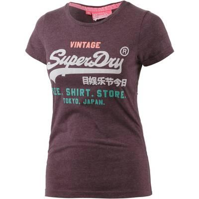 Superdry T-Shirt Damen weinrot