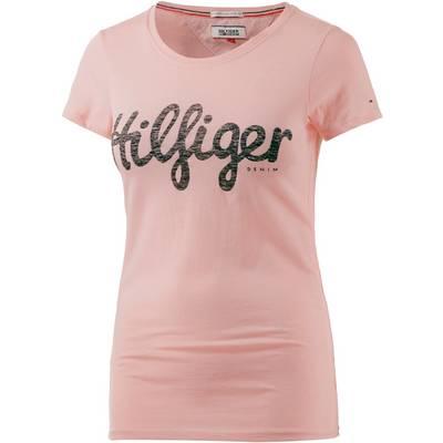 tommy hilfiger t shirt damen rosa im online shop von. Black Bedroom Furniture Sets. Home Design Ideas