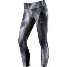 Nike Power Epic Run Crop Lauftights Damen schwarz/grau
